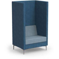 Canapé haut d'accueil 1 place sans coussins latéraux Oriana