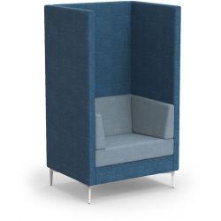 Canapé haut d'accueil 1 place avec coussins latéraux Oriana
