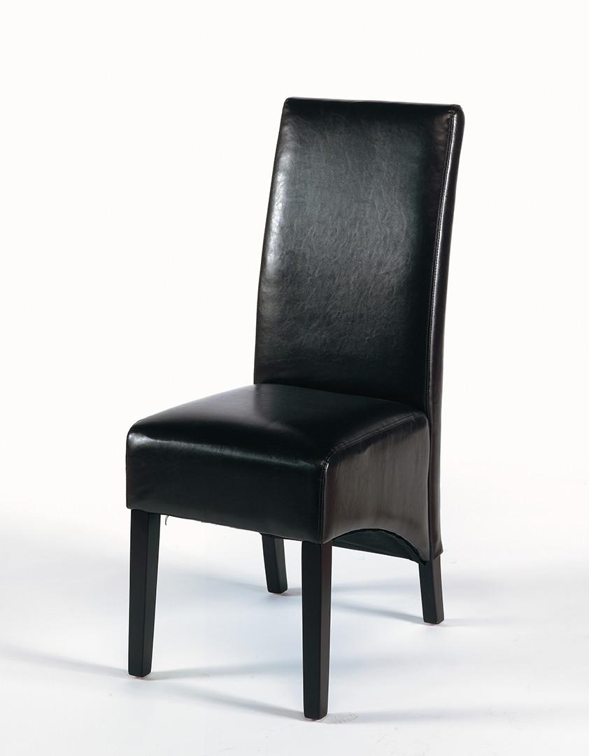 Chaise de salle à manger contemporaine en PU brun (lot de 2) Jordan