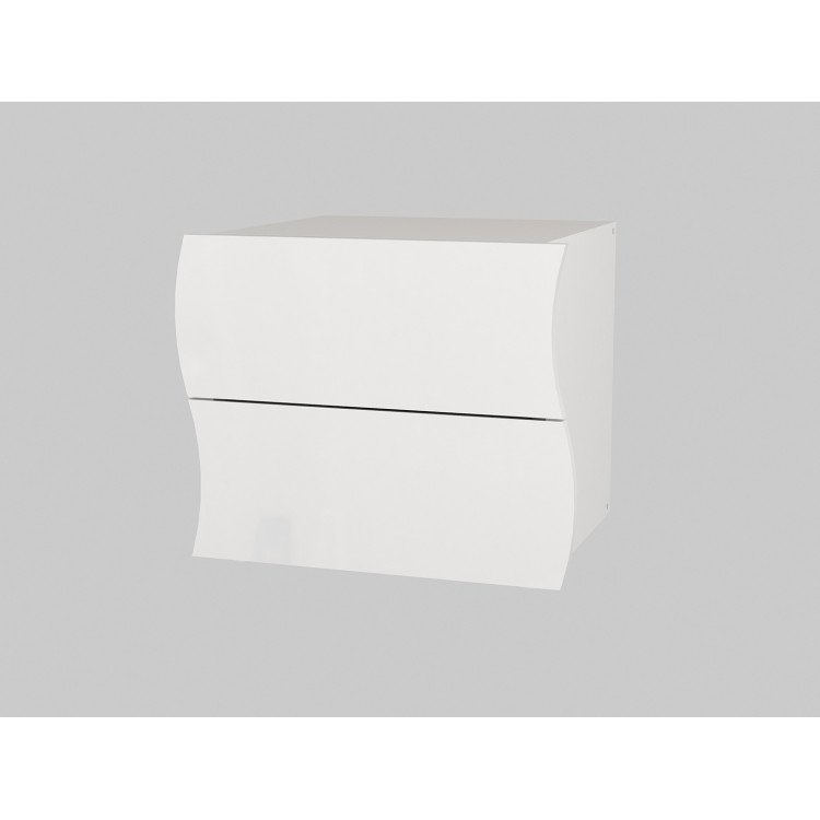 Chevet moderne laqué blanc Onida