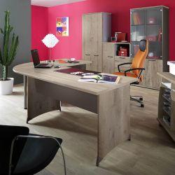 Bureau contemporain coloris chêne Romain