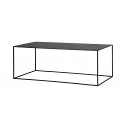 Table basse industrielle rectangulaire en métal Flore
