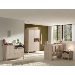 Chambre bébé contemporaine coloris chêne Cataline