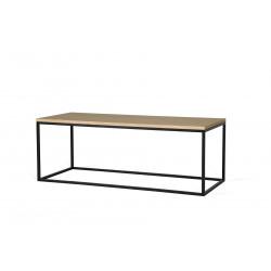 Table basse rectangulaire 110 cm industrielle Helisa