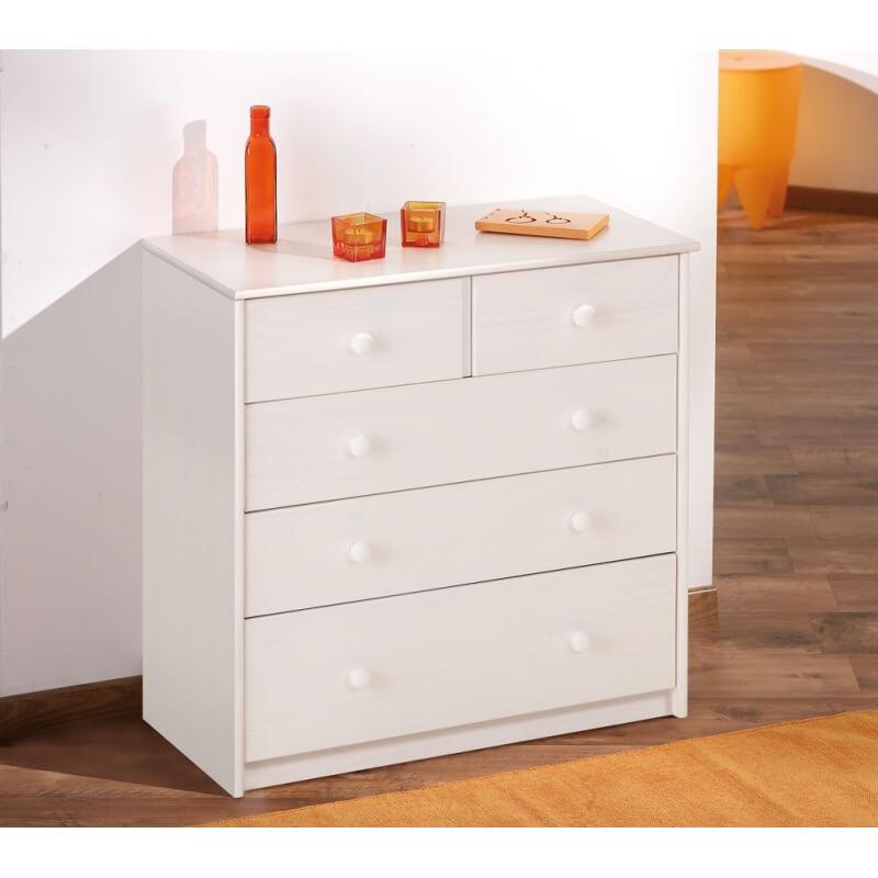 commode en pin massif louna. Black Bedroom Furniture Sets. Home Design Ideas