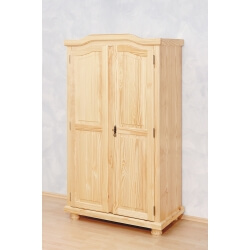 Armoire contemporaine 2 portes en pin massif naturel Elodie