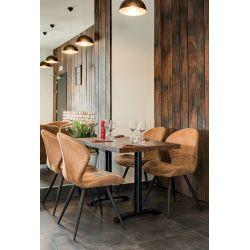 Chaise de restaurant contemporaine (lot de 2) piétement métal Ariel