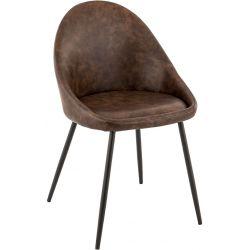 Chaise de restaurant vintage (lot de 2) métal et PU Peter