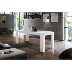 Table de salle à manger extensible contemporaine 160 cm Jessica