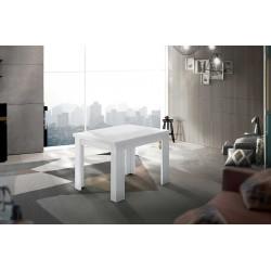 Table de salle à manger extensible contemporaine 90 cm Jessica