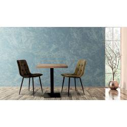 Chaise de restaurant (lot de 2) piétement hêtre Kattie