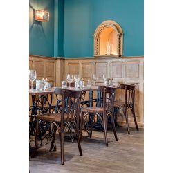 Chaise de restaurant en bois teinté (lot de 2) Adrien