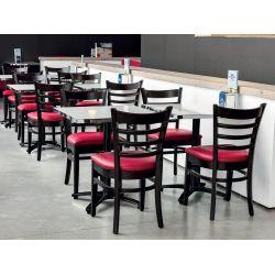 Chaise de restaurant (lot de 2) structure en hêtre Claudio