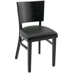 Chaise de restaurant (lot de 2) structure hêtre avec assise PU Myrthille
