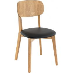 Chaise de restaurant moderne (lot de 2) structure hêtre Ange