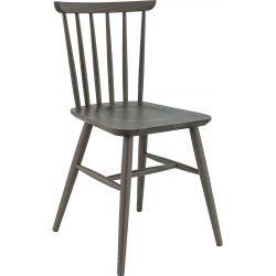 Chaise de restaurant (lot de 2) en hêtre teinté gris fumé Pierre