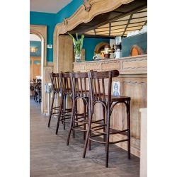 Tabouret de bar en bois teinté Adrien