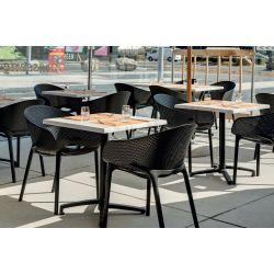 Fauteuil de restaurant moderne (lot de 4) pour extérieur Preston