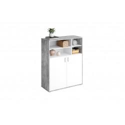 Meuble de rangement contemporain blanc/béton Vérona