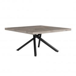 Table basse industrielle chêne hickory/noir Aymar