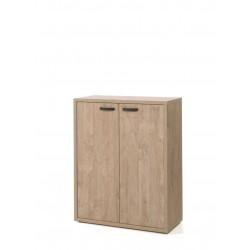 Armoire basse de bureau contemporaine 90 cm chêne doré Balto