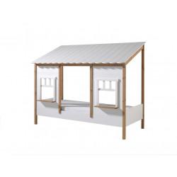 Lit cabane enfant moderne blanc Forest