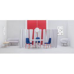 Chaise de réunion moderne avec piétement en étoile métal noir Hélène