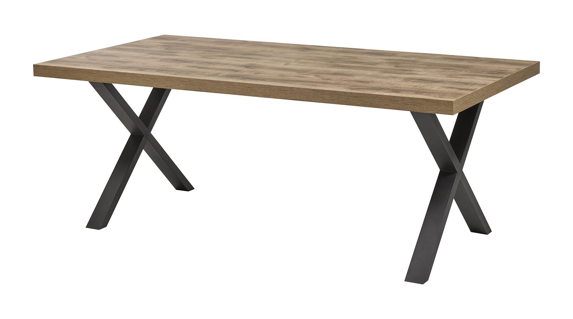 Table de salle à manger industrielle chêne/noir Odessa
