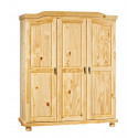 Armoire style campagne 150 cm en pin massif Hada
