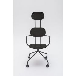 Chaise de bureau moderne à roulettes Alban