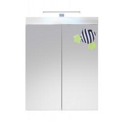 Armoire de toilette design coloris blanc Savana