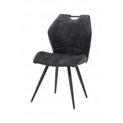 Chaise de salle à manger moderne en velours (lot de 2) Anicette