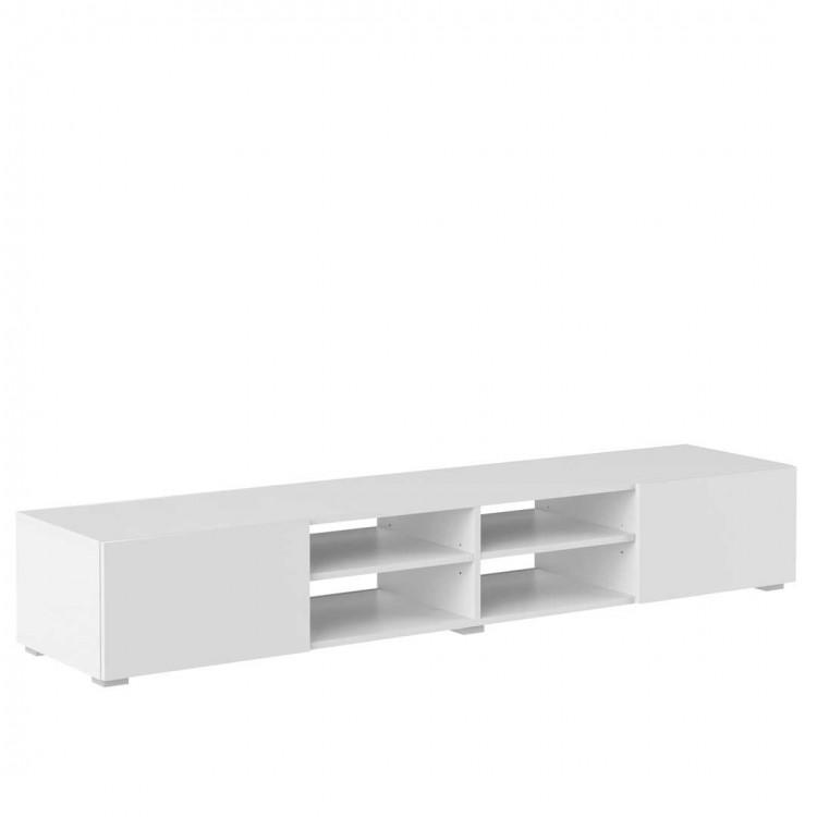 Meuble TV design laqué blanc Adélia II