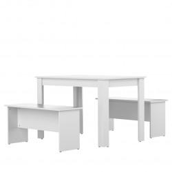 Ensemble table et banc de cuisine contemporain Noelia