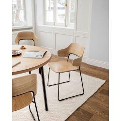 Chaise de réunion moderne piétement métal Afida