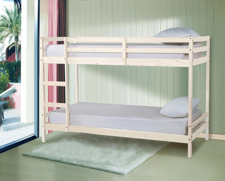 lits superpos s s parables en pin avec sommiers james. Black Bedroom Furniture Sets. Home Design Ideas