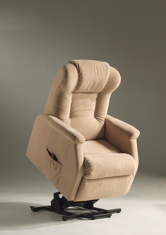 Fauteuil de relaxation 100 % cuir électrique releveur avec repose-pieds intégré BRANDO