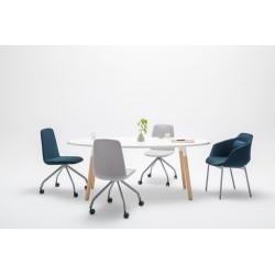 Table de réunion scandinave ovale Lauren