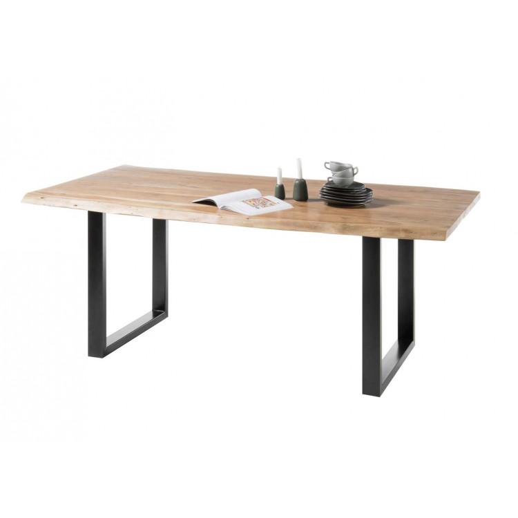 Table industrielle en bois massif Indila