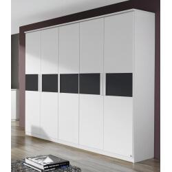 Armoire adulte design blanche 5 portes Carcassonne