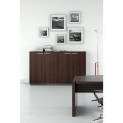 Armoire de bureau moderne coloris wengé Leonard