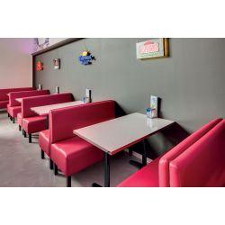 Banquette contemporaine assise en PU Olivier