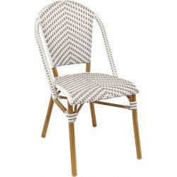 Chaise de restaurant vintage pour extérieur (lot de 4) empilable Louis