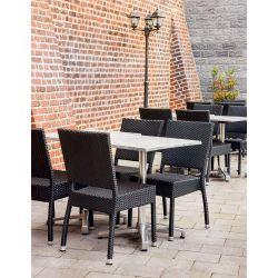 Chaise de restaurant pour extérieur (lot de 4) empilable Alice