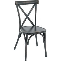Chaise d'extérieur (lot de 4) empilable en en aluminium Claire