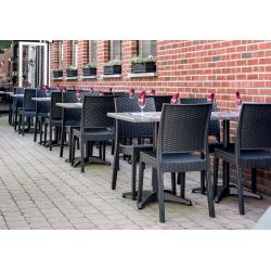 Chaise d'extérieur (lot de 4) empilable en polypropylène Jason