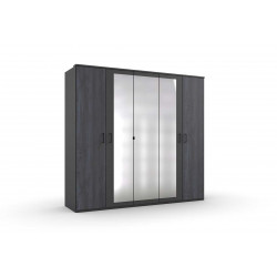 Armoire adulte contemporaine 225 cm graphite Copenhague