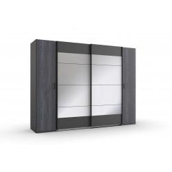 Armoire adulte contemporaine 272 cm graphite Copenhague