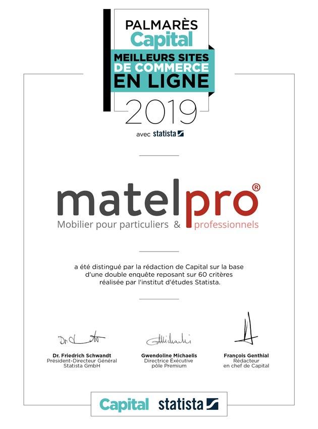 Matelpro label Capital 2019