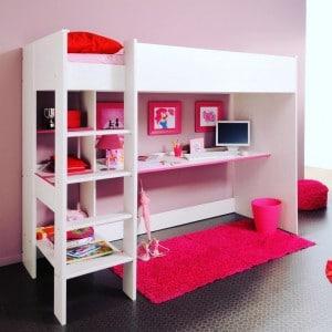 Le lit combin  pratique et deco pour les petiteshellip